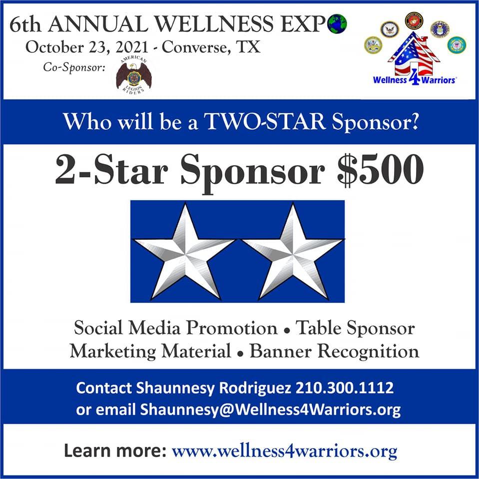 2 star sponsorship: $500